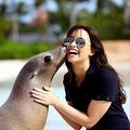 demi lavato with seal