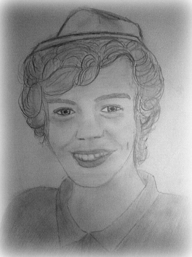 drawing of harry <3
