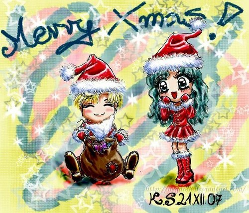 Sailor Uranus and Sailor Neptune karatasi la kupamba ukuta probably containing anime called harumichi