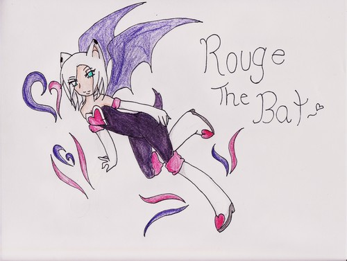 ROUGE THE BAT Hintergrund probably with Anime called human rouge