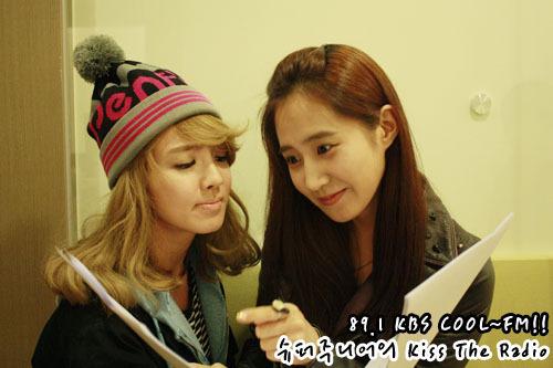 hyoyeon&yuri-kbs চুম্বন the radio