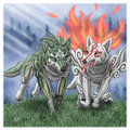 okami and wolf link - the-legend-of-zelda photo