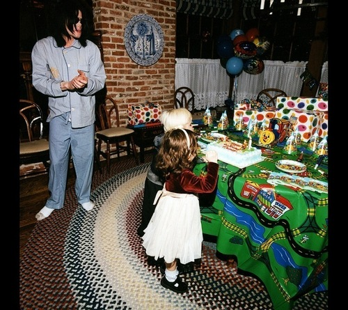 prince and paris (with michael)