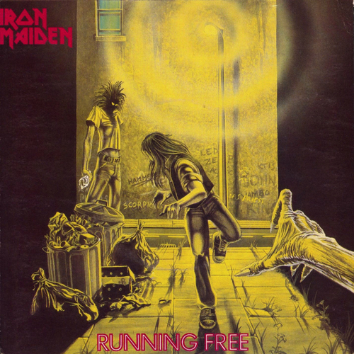 Iron Maiden wallpaper with anime entitled running free