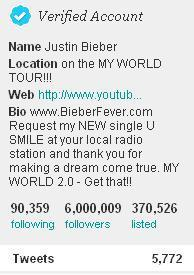 #6millionbeliebers on Twitter! ♥
