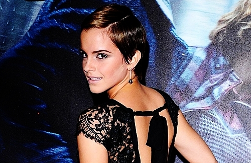 Emma Watson wallpaper probably with attractiveness, a bustier, and tights called  DH1 London Première., 11.11.2010