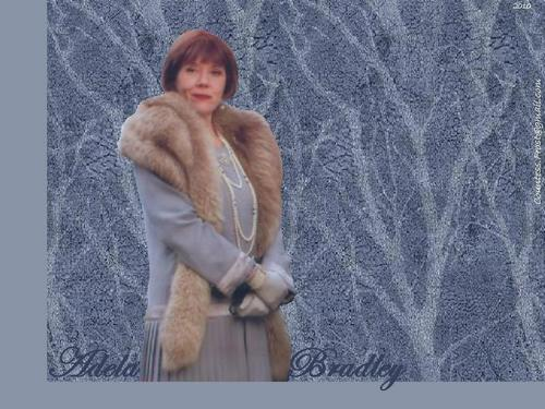 Diana Rigg wallpaper containing a fur coat and a mink titled Adela Bradley (1)
