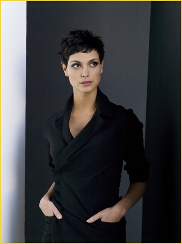 V (2009) wallpaper with a well dressed person entitled Anna (Morena Baccarin)