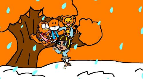 O Ursinho Puff wallpaper containing animê titled bebês Garfield, Kipper, Cleo and Tigger in Forever Young