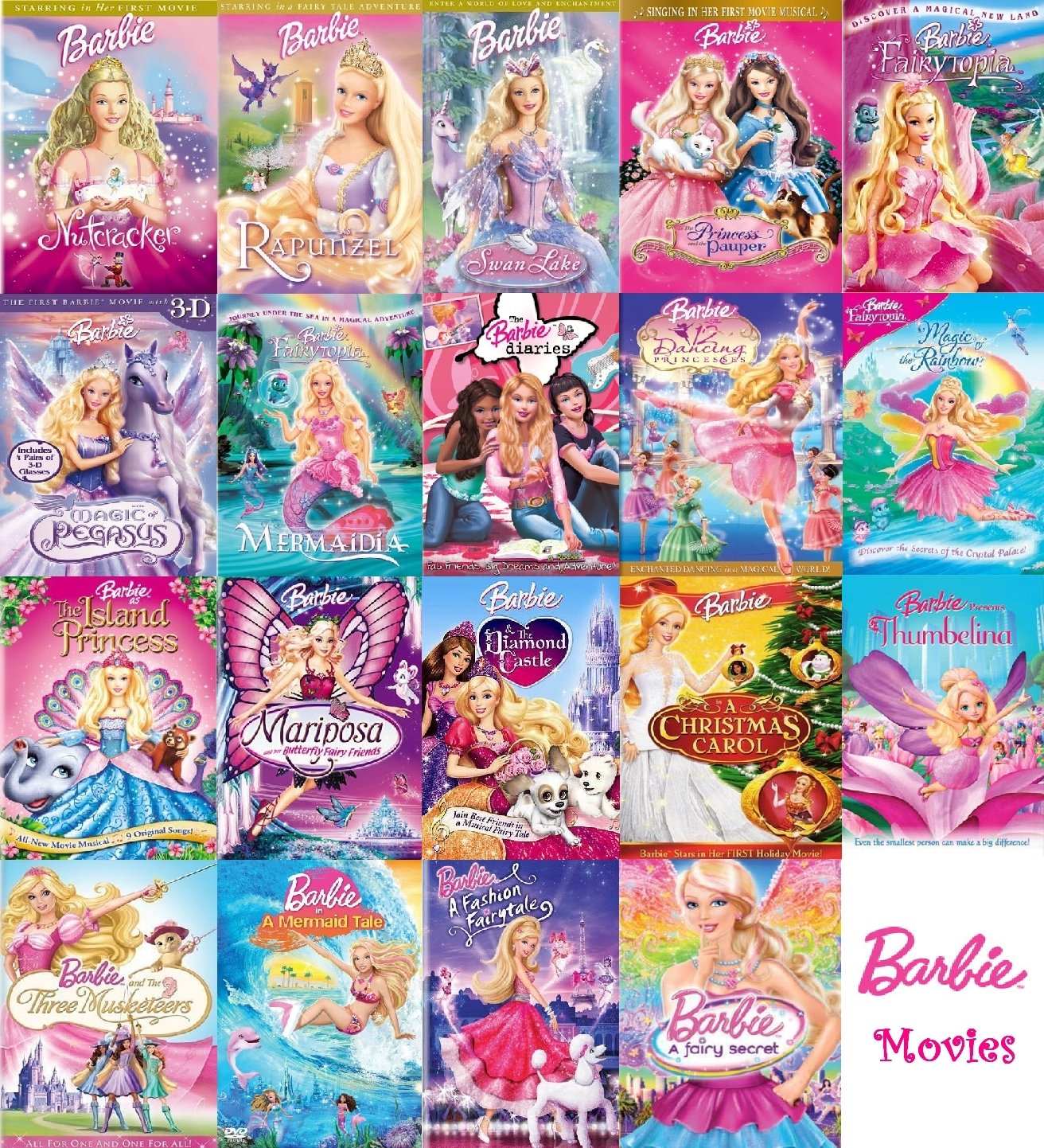 barbie movies images barbie movies collection (complete) hd