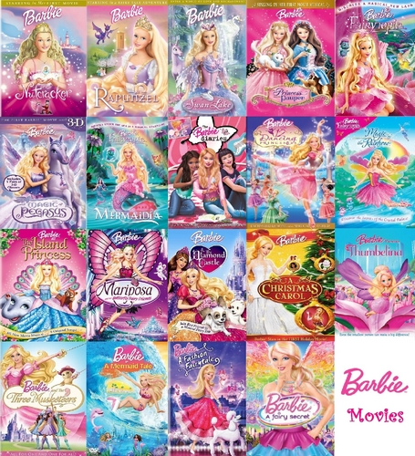 Barbie-Filme Hintergrund probably with Anime entitled Barbie Filme Collection (COMPLETE)