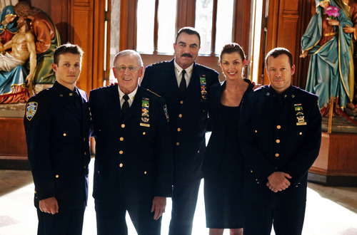Blue Bloods (CBS) wallpaper probably containing a business suit, dress blues, and a full dress uniform titled Blue Bloods- Cast Promotional Photo
