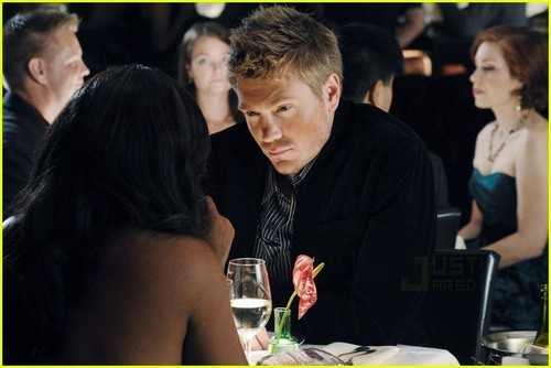Chad Michael Murray wallpaper containing a jantar table, a brasserie, and a bistro, bistrô titled CMM - natal cupid pics