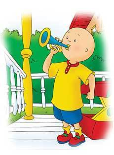 Caillou Playing a Trumpet