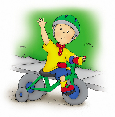 Caillou Riding His Tricycle