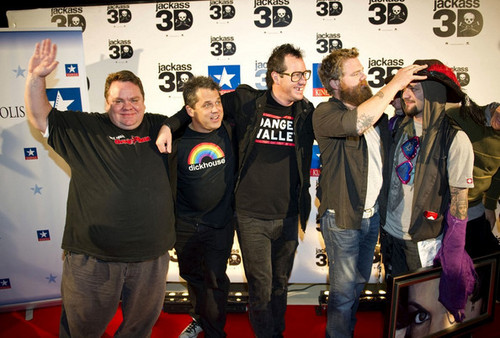 Cast of 'Jackass 3D' @ the Madrid Premiere