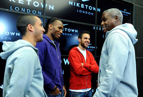Cesc at Niketown 런던