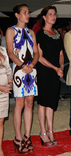 carlotta, charlotte Casiraghi and her mother Caroline of Hanover
