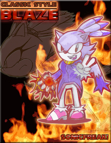Classic Blaze the Cat