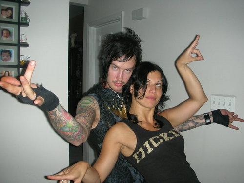 "Cristina and Jimmy ""The Rev"" Sullivan (Avenged Sevenfold)"