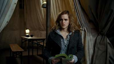 Hermione Granger wallpaper probably containing a living room and a drawing room titled DH promotional pic