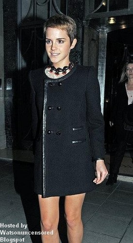 Emma Leaving the Claridge's Hotel in London., 09.11.2010
