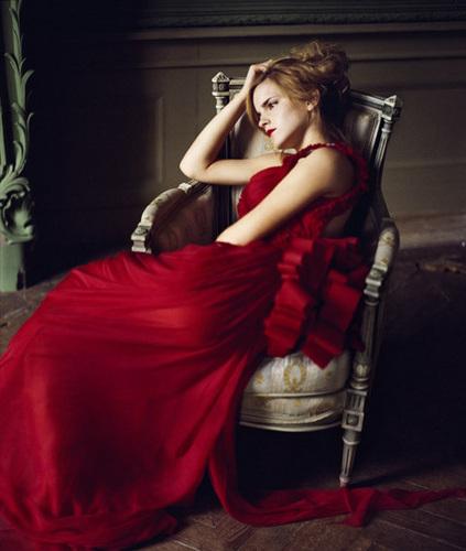 Anichu90 wallpaper with a dinner dress called Emma Watson - Photoshoot #042: Vogue Italia / Mark Seliger (2008)