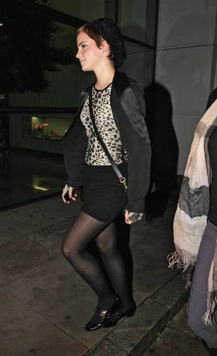 Emma leaving a Private Screening of DH in London, Nov 5 2010
