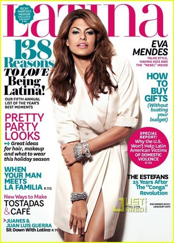 Eva Mendes Covers 'Latina' December 2010