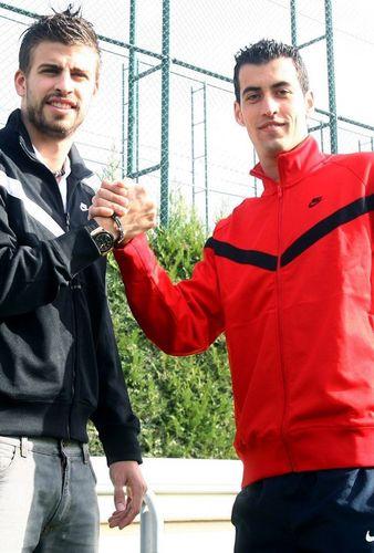 Gerard Piqué and Nadal look..