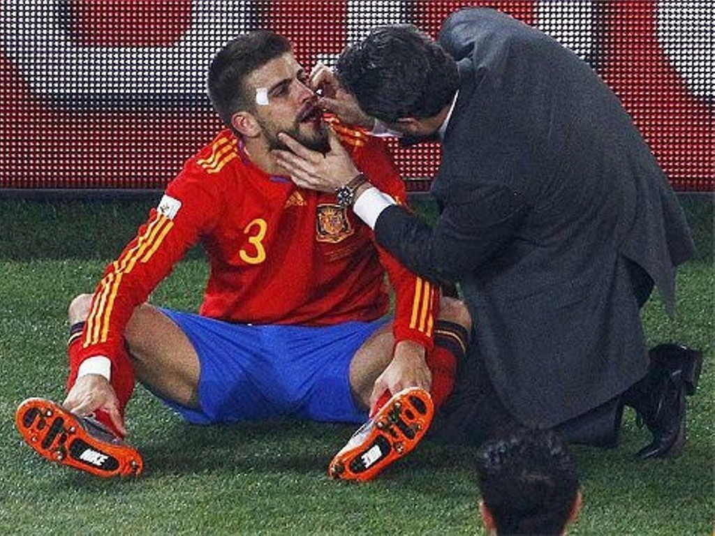Gerard Piqué treatment