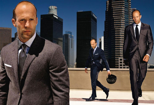 Jason Statham karatasi la kupamba ukuta with a business suit, a suit, and a three piece suit called Jason Statham- City