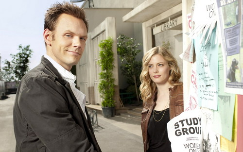 Community wallpaper with a business suit titled Jeff and Britta