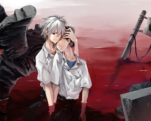 Yaoi wallpaper titled Kaworu x Shinji