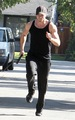 Kellan for a jog in LA 11/10/10 - twilight-series photo