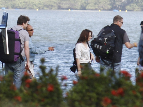 Kristen and Rob leaving for Paraty
