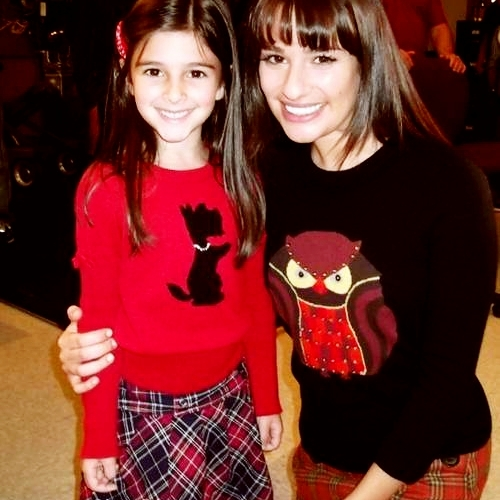 Lea and 'Mini Rachel'!