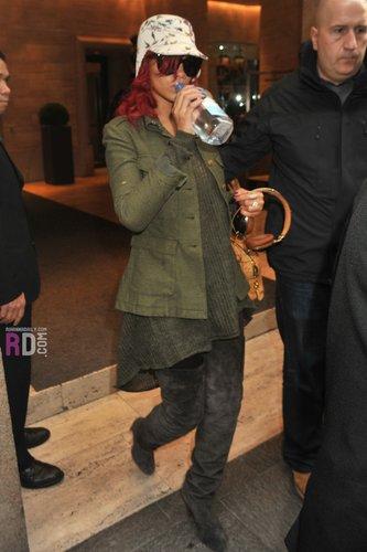 Leaving her hotel in Milan, Italy - November 9, 2010