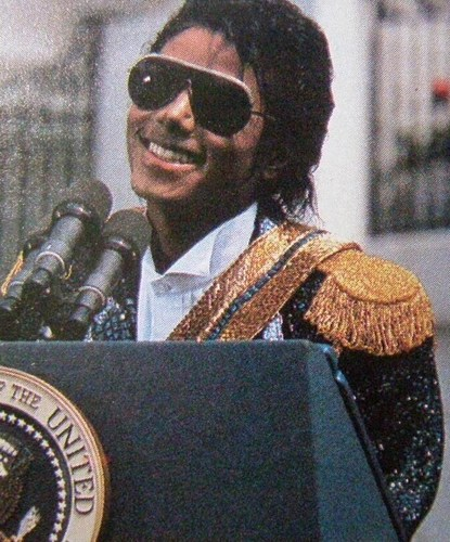 MJ at White house