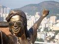 MJ statue Brazil, were he did TDCAU - michael-jackson photo