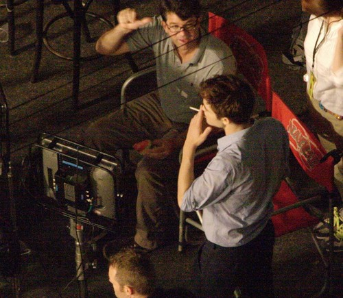 plus Pictures of Rob on 'Breaking Dawn Part 1' Set
