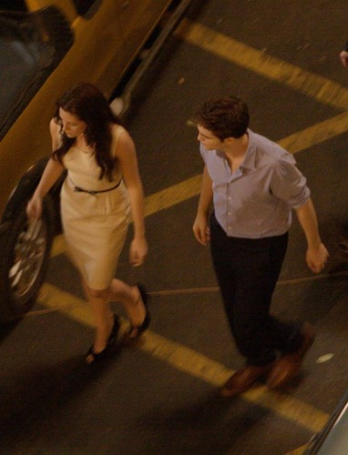 Mehr Rob & Kristen 'Breaking Dawn' Part 1 Set Pictures