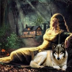Mystical serigala, wolf