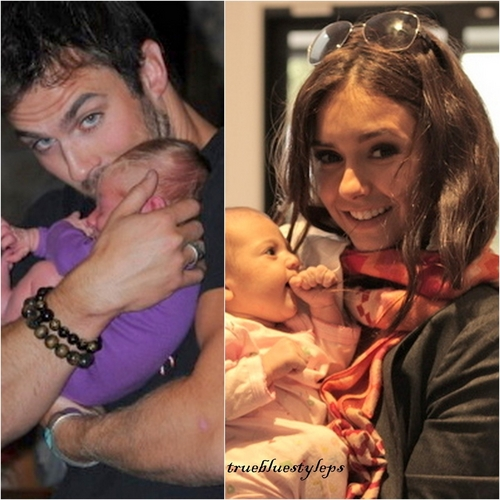 Nian with babies  - ian-somerhalder-and-nina-dobrev Photo