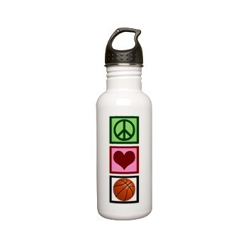 Peace Liebe basketball Water Bottle