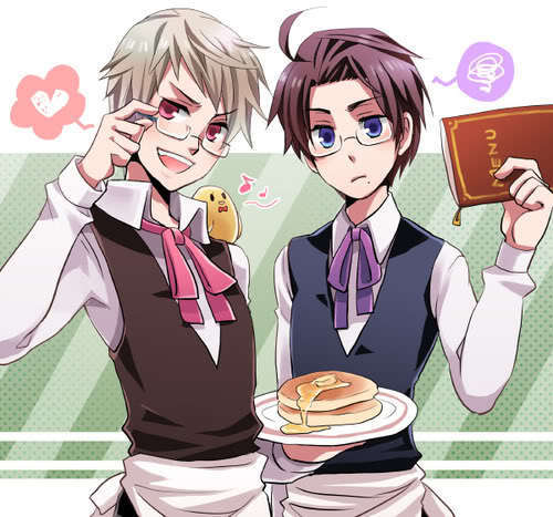 Hetalia wallpaper with anime titled Prussia and Austria
