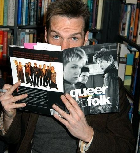 Queer As Folk 壁纸 with an athenaeum, a bookshop, and a newspaper entitled Queer As Folk cast