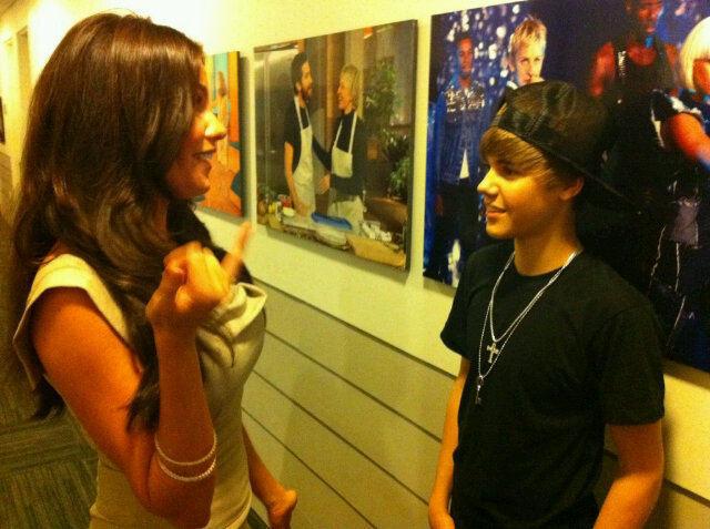 Sofia and Justin Bieber