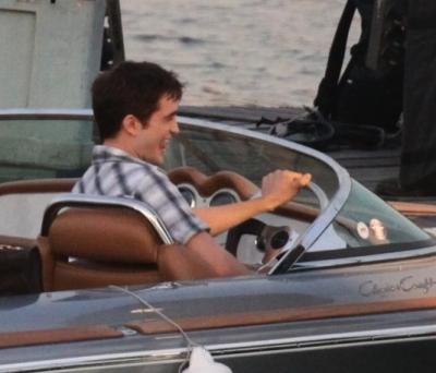 Robert Pattinson at bến du thuyền, bến tàu, marina da Glória (RJ)