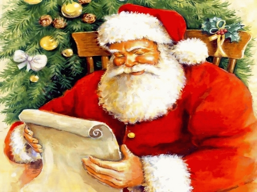 Santa's checking his list..Have tu been Naughty o Nice ?